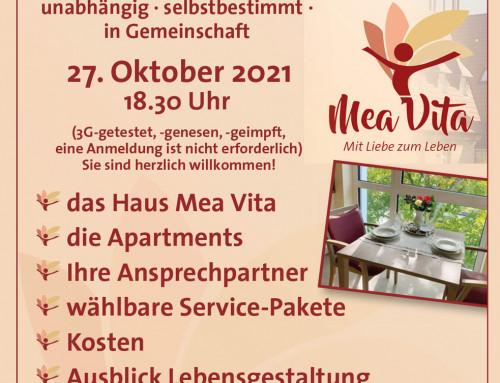 SERVICE WOHNEN IN RIETBERG / INFOABEND AM 27.10.2021 ab 18:30 Uhr